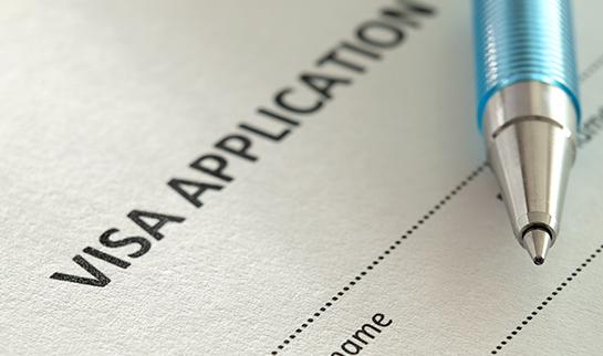 Visa application support: